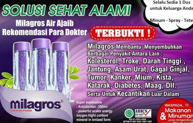 Jual Milagros ( Air Sehat Alkali )