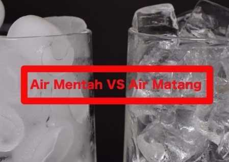 Perbedaan Es Batu dari Air Matang dan Mentah