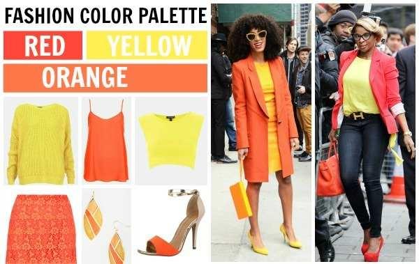 perpaduan warna kuning dan merah orange